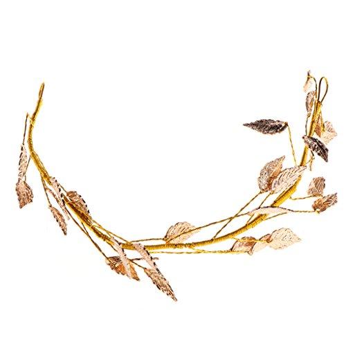 SKYVII Moda hojas de hojas boda novia novia pelo diadema tiara tocado...