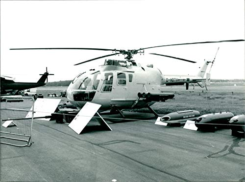 Fotomax Vintage Photo of BO.105 LS-AS MBB Helicopter.