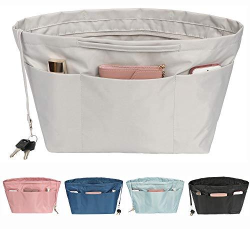 Joqixon Nylon Handtaschen Organizer mit Reißverschluss, Taschenorganizer Bag in Bag für Handtaschen, Innentaschen für Handtaschen