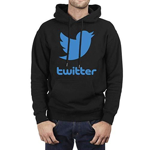 Men's Best Fleece Twitter-Blue-Bird- Sweater Pullover Stretchable Hoodies Powerblend