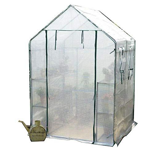 lyf Gewächshaus Gewächshauszelt, Tomatenpflanze Wachstum Raum, Gartengewächshaus, Grün PE Windschutzscheibe, 143 X 73x 195cm, for Balkon Garten (Color : B)