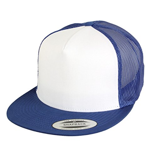 Flexfit Yupoong by Kappe Classic Trucker Snapback Cap royal White royal