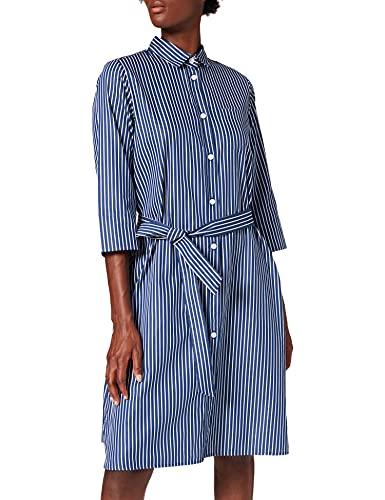 Seidensticker Damen 131832-18 Kleid, Navy Stripes, 40
