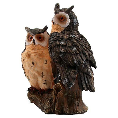 HOMERRY - Figura Decorativa de búho de Resina para decoración del hogar, jardín, césped