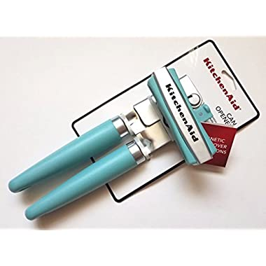 KitchenAid Gourmet Soft Grip Can Opener with Magnet (Aqua Sky)