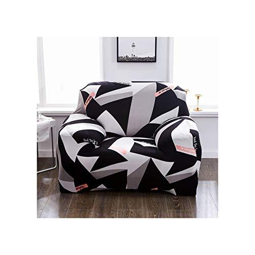 Lionel Philip Red Pattern Einzel-Sofa-Abdeckung Cotton Stretch Elastic Sofabezüge für Wohnzimmer Slipcover für Sessel Couch Cover, Farbe 9,4-Seater 235-300Cm
