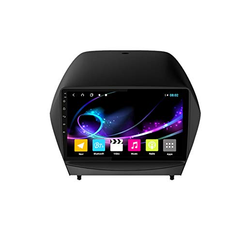 Amimilili Android Autoradio Navigatore per Hyundai IX35 2010-2013 9 Pollici Supporto BT Mirror Link/WiFi/Controllo del Volante/Radio FM/Telecamera Posteriore,4 coreswifi:1+16g