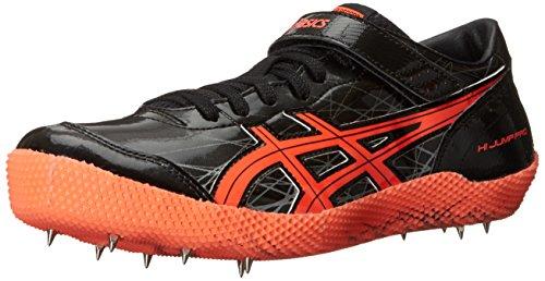 ASICS Men's High Jump Pro (L)-M Track Shoe, Black/Flash Coral/Silver, 6.5 M US