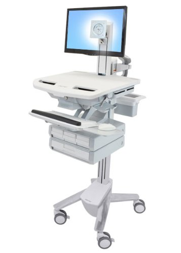 Ergotron STYLEVIEW CART with LCD Pivot 4...