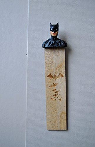 Comics BIRTHDAY gift Handmade Wooden BOOKMARK. Superhero figure Design. Eco - Friendly Product. Original and Unique Book Supplies. Best Gift for boys, men.
