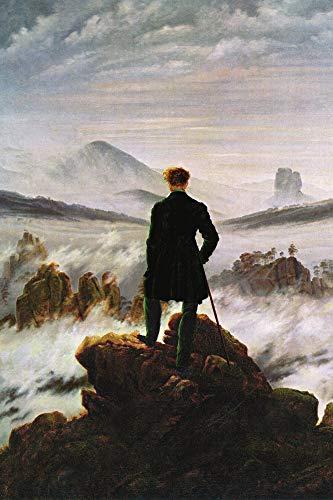 1art1 Caspar David Friedrich - El Caminante sobre El Mar De Nubes, 1818 Póster (120 x 80cm)
