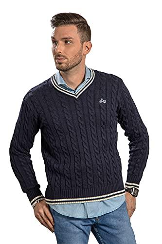 RUL Jersey DE Hombre Cuello Pico DE Invierno Azul Marino (XL)