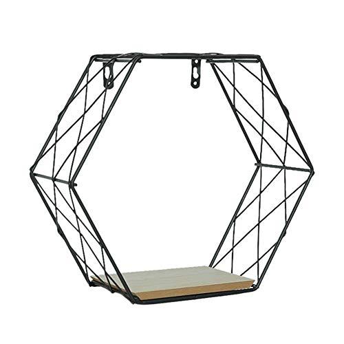 Cicony Estante Flottante, soporte de planta, para colgar en la pared de la rejilla de hierro geométrico Hexagonal geométrico, para decoración