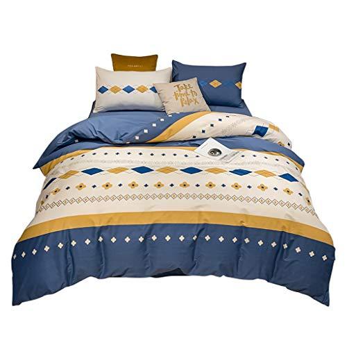 DYXYH Baumwoll-4-teiliger Schlafsaal Student Baumwolle Bettwäsche extra große Bett Set Bettwäsche-Set (Size : 1.8M)