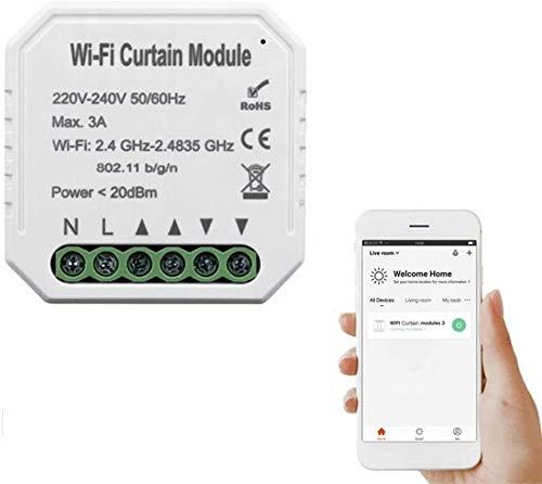 KKmoon Rollladenmodul, Verbindung, Schaltermodul, WiFi, Tuya, Intelligent, Life für Elektromotor, Rolladen, kompatibel mit Alexa Google Home