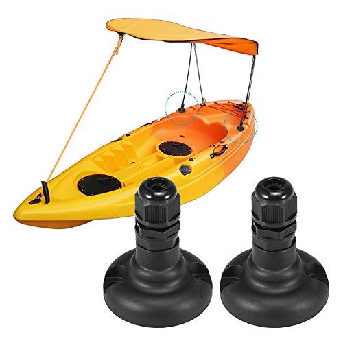 Walmeck- 1 Pair Kayak Canopy Mount Base Hardware Kit for Boat Canoe Awning Sun Shade