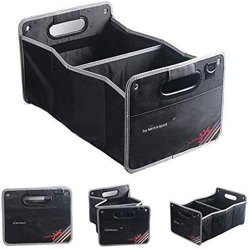 YIKA - Organizer per bagagliaio pieghevole, colore: Nero per AudiSline A1 A3 A4 A6 A8 A7 TT Q3 Q5 Q7 RS3 RS5 RS7