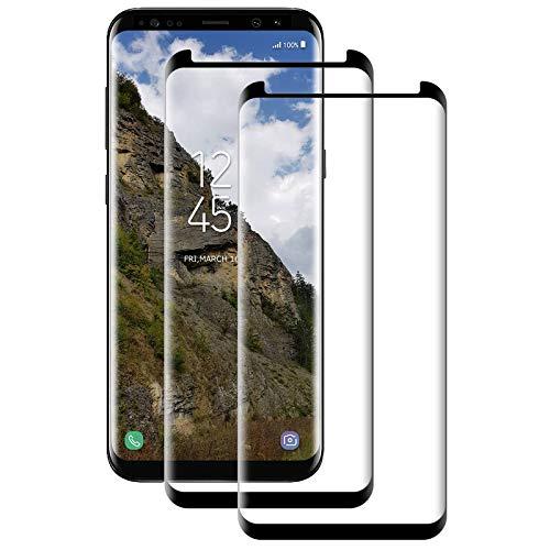 Aspiree Cristal Templado Samsung Galaxy S8 Plus,[2-Unidades] Protector de Pantalla para Samsung Galaxy S8 Plus[Alta Definicion, 9H Dureza, Resistente a Arañazos]