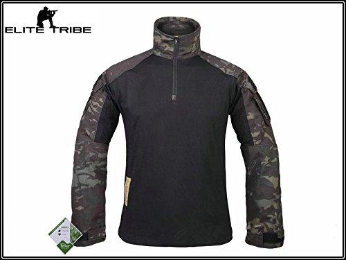 hombres airsoft militar camisa de paintball combate camisa gen3 táctica Multicam Negro...