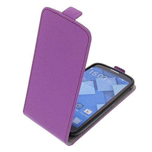 foto-kontor Tasche für Alcatel One Touch Pop C7 Smartphone Flipstyle Schutz Hülle lila