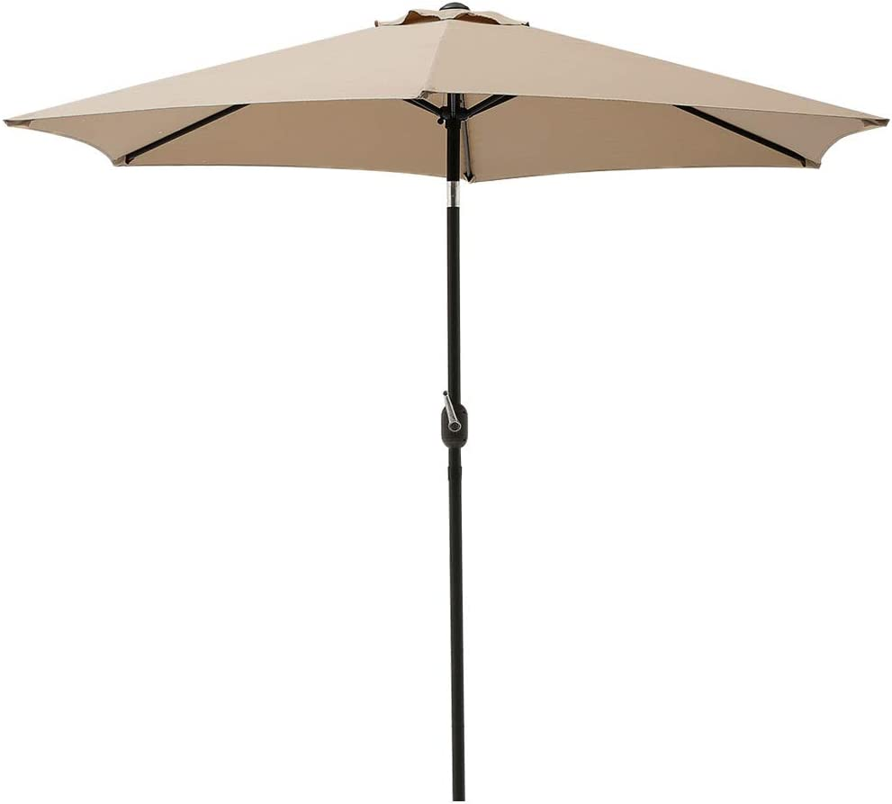 SUPERJARE 9Ft Patio Umbrella with Push Crank 送料無料 Tilt Ou お見舞い and Button