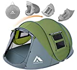 Pop Up Tents for Camping 4 Person Waterproof Tent Easy Pop Up Army Tents Surplus Tents...