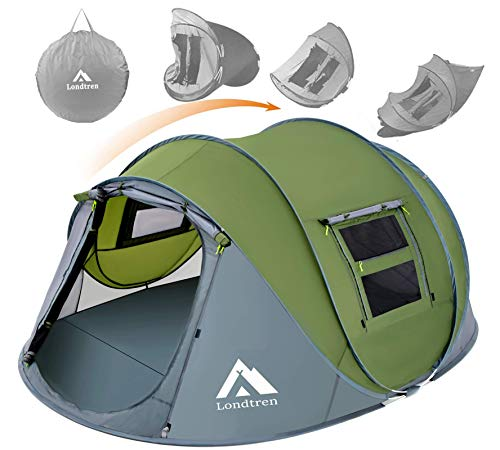 Pop Up Tents for Camping 4 Person Waterproof Tent Easy Pop Up Army Tents Surplus...