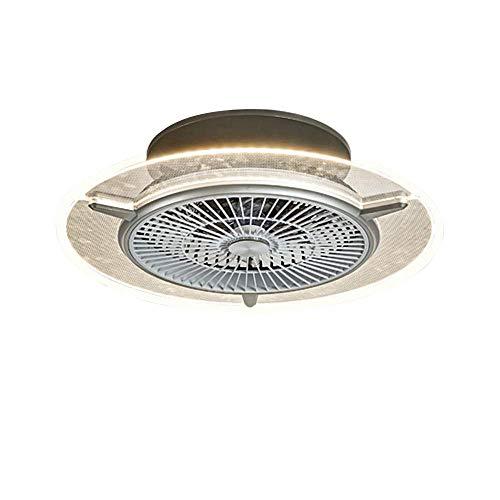 Ventilador de techo con iluminación, ventilador de techo LED, 3 velocidades ajustables y 3 colores regulables con mando a distancia, 48 W, moderna lámpara LED de techo para dormitorio o salón
