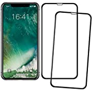 YJan Bubble Proof Scratch Proof Tempered Glass Screen Protector Compatible with iPhone X Crystal Clear Full Coverage Anti-Oil Anti-Fingerprint Screen Protector (2 Pack)