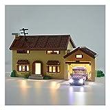 Juego de luces LED, Por Simpson House compatible con Lego 71006, Kit de Iluminación, Accesorios Módulo de iluminación, (no incluir Lego Modelo)