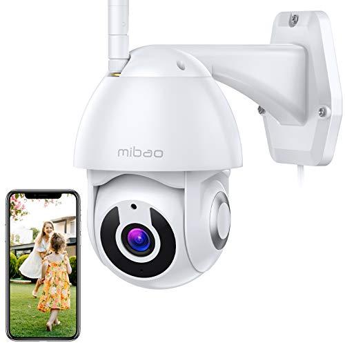 1296P Sicherheits überwachungskamera Innen/Außen, Mibao WiFi Kamera mit Schwenk/Neigen 360° , IP66 Wasserdicht, Nachtsicht, Bewegungserkennung, 2-Wege-Audio, iOS/Android APP, Kompatibel mit Alexa