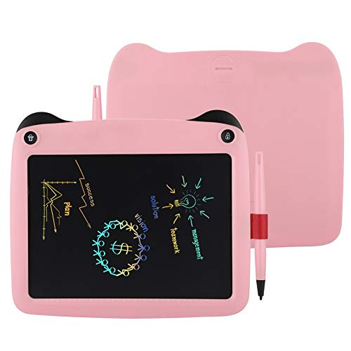 sjlerst LCD Drawing Board Electronic 9-inch Smart Notepad, Writing Tablet, Writing Board Pad for Graffiti for Painting for Reminders Note(Pink)