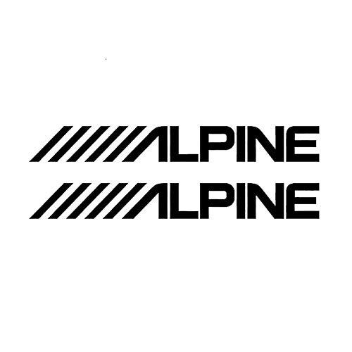 18 cm x 4,5 cm Alpine audio luidspreker stereo versterker geluid sticker autosticker Jdm styling sticker zwart / splinter