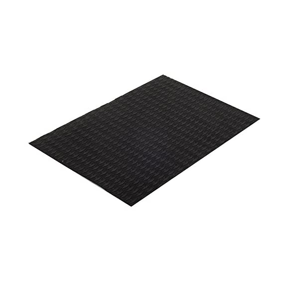 Abahub Non-Slip Traction Pad Deck Grip Mat 30in x 20in Trimmable EVA Sheet 3M Adhesive for Boat Kayak Skimboard… 6 SUPERIOR ANTI-SLIP TRACTION: In 3mm depth diamond grooves, this trimmable EVA pad provides a nice textured surface with excellent grip. CUSTOMIZE TO FIT: In size of 30''x 20'', it's trimmable and versatile. It's perfect for SUP boards, surfboards, boat decks, kayaks, skimboards, swimming pool steps, skateboards and more. PREMIUM QUALITY: Along with the brand new A-grade EVA material, all Abahub traction pads utilize certificated resin and original marine grade 3M self adhesive backing. Our processing experience also guarantees the superb stickiness won't be compromised by EVA dust generated during production.