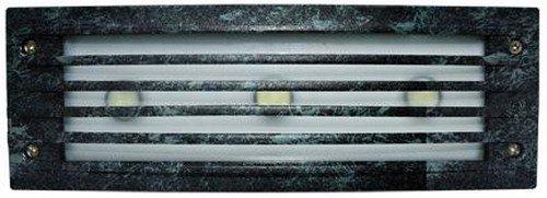Dabmar LV-LED621-VG Cast Aluminum Recessed Louvered Brick/Step/Wall Light, Verde Green Finish