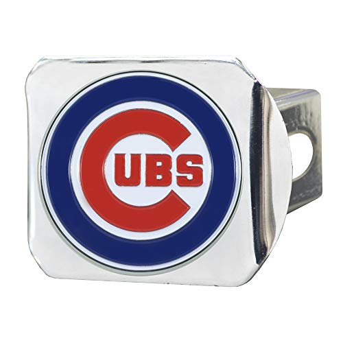 FANMATS 26540 MLB - Chicago Cubs Color Hitch Cover - Chrome