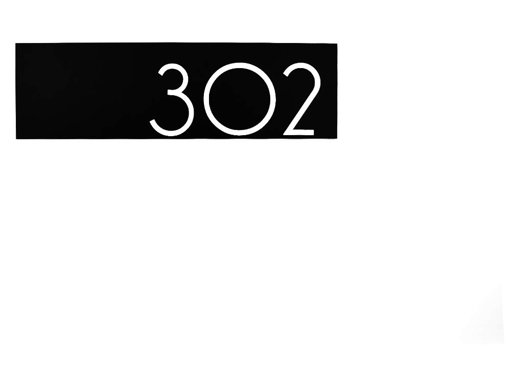 Modern Apartment door Numbers plague Acrylic Year-end gift Black - Contempora NEW before selling