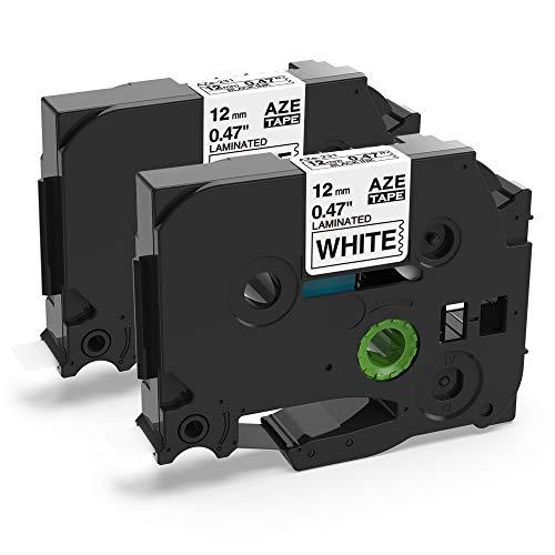 Airmall Kompatible Schriftband als Ersatz für Brother P-touch Bänder TZe-231 TZe231 TZ231 P Touch Schriftband TZe 12mm 0.47 Tape für Ptouch H100LB H105 E100 D200 D210, Schwarz auf Weiß x 2