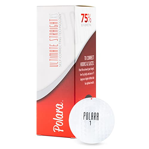 Polara Golf XS Golf Balls   Self Correcting Golf Ball, Reduce Hooks & Slices by up to 75%   Put Fun Back in Your Game and Use a Straight Golf Ball   1 Dozen Golf Balls
