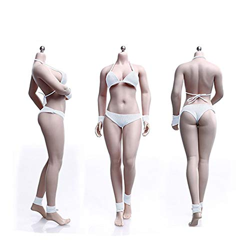 1/6 Mannequin Stahlskelett Mikro Fett Weiblicher Körper Weiblicher Körper Super Flexibel Nahtlos Mit Metallskelett (Weizen Farbe)