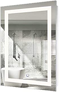 Krugg LED Bathroom Mirror 24 Inch X 36 Inch   Lighted Vanity Mirror Includes Defogger & Dimmer  Wall Mount Vertical or Horizontal