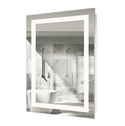Krugg LED Bathroom Mirror 24 Inch X 36 Inch | Lighted Vanity -