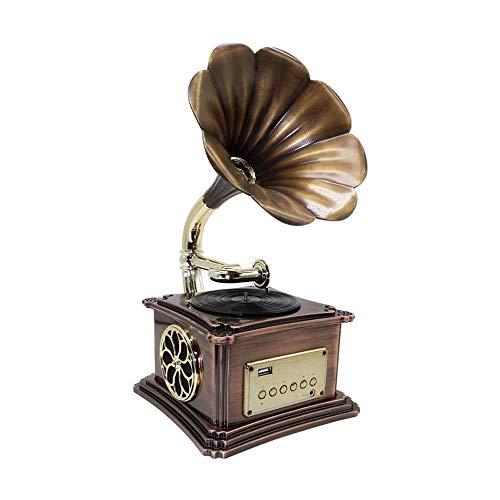 W.Z.H.H.H Manualidades Bluetooth Altavoz Retro gramófono pequeños Adornos Regalos creativos Inicio estéreo...