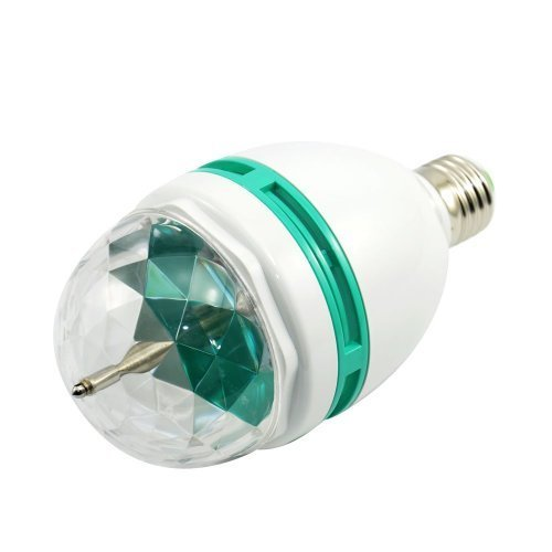 CSKB Ball Light Rotating Crystal Disco Light Bulb with Multi Changing Color Disco Lights for Parties Disco