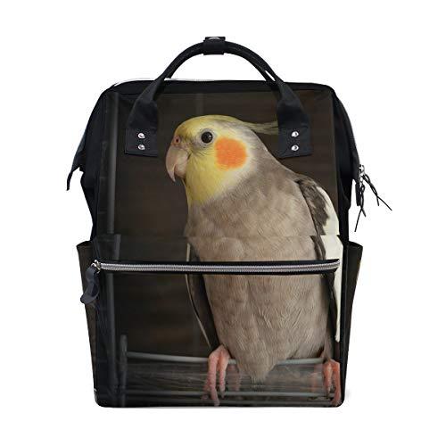 バックパック オカメインコ 鳥かご 学校 リュックサック おむつバッグ 旅行 ショルダー 大容量 ブックバッグ レディース メンズ 11in (L) x 7.8in (W) x 15 in (H) マルチカラー XinMing_008