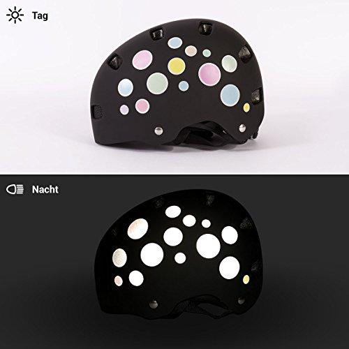 Motoking Reflektierende Aufkleber für Fahrrad, Helm und mehr – Pastellpunkte - 5