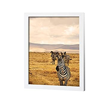 JD ART GALLERY 18x24 Poster Frame in White made of Eco-friendly Wood   Handcrafted   Polished Plexiglass Artwork and Hanging Hardware Included