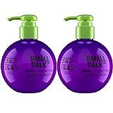 Bed Head by Tigi – Small Talk, crema de peinado voluminizadora para pelo fino, 240 ml, 2 productos
