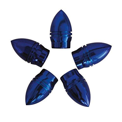 Carpoint 2216001 Valve Caps Bullet - Bleu (5 Pieces)