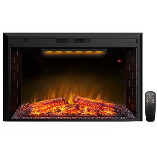 Valuxhome Electric Fireplace, 43 Inches Electric Fireplace Heater Insert with...